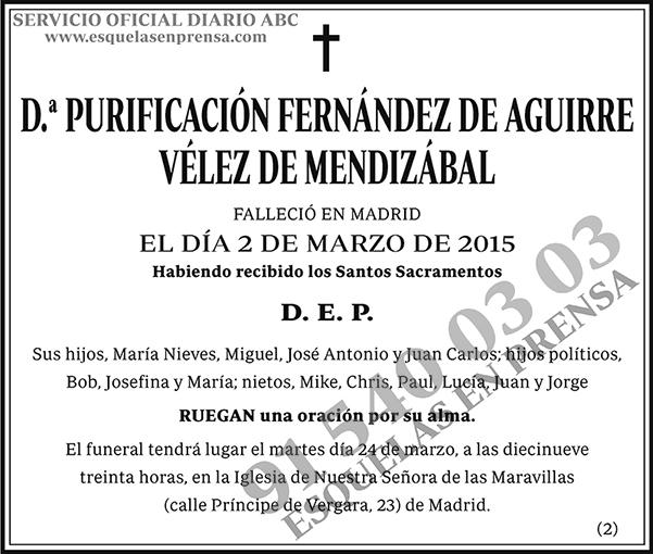 Purificación Fernández de Aguirre Vélez de Mendizábal